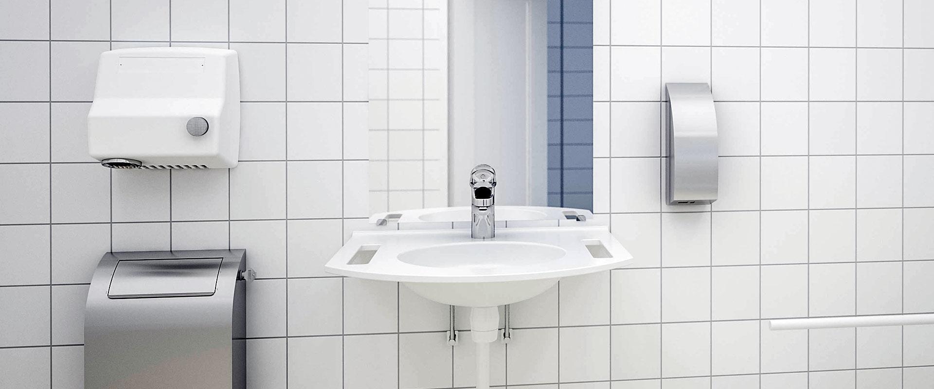 Tvättställ, blandare och tillbehör