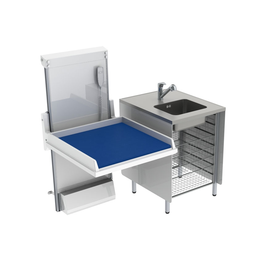 <b>KID 334 - Kombination 1, tvättbänk, 147x80 cm</b>