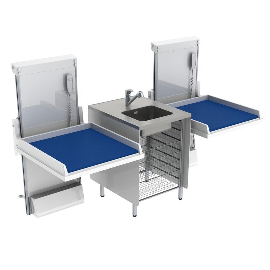 <b>KID 334 - Kombination 2, tvättbänk center, 232x80 cm</b>