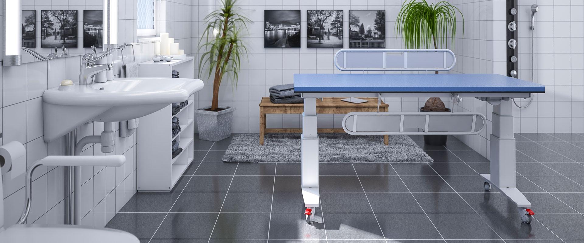 CARE 345 - Höj- och sänkbart skötbord med madrass