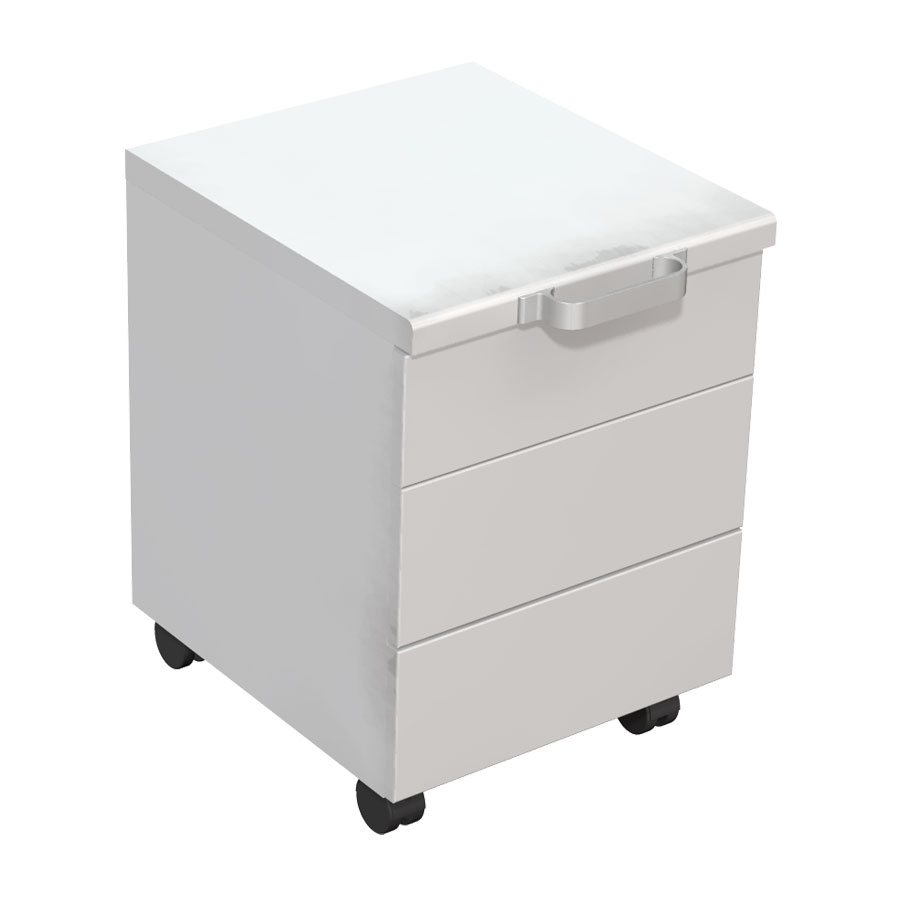 Minibänkskåp på hjul - 3 lådor